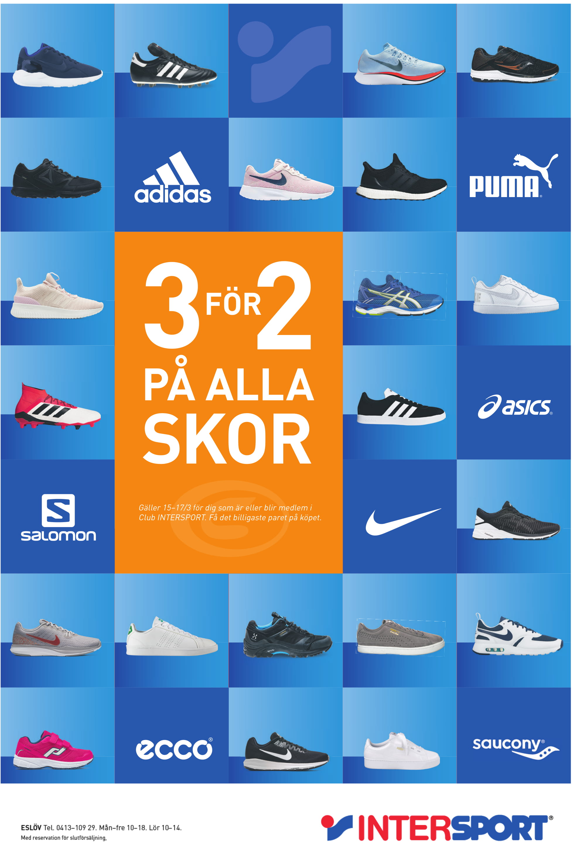asics skor intersport